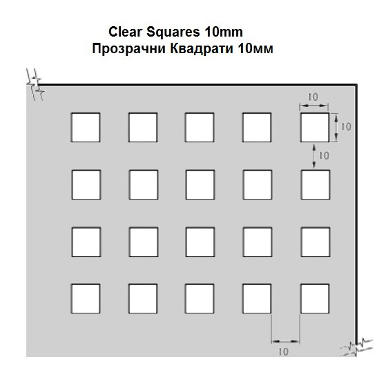 Clear Squares 10mm