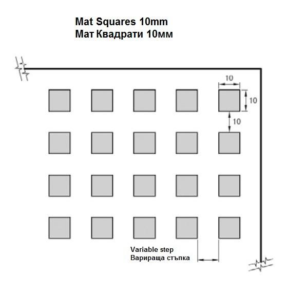 Mat Squares 10mm